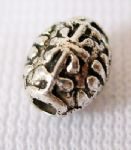 JW10760 Tibetan Silver Spacer Beads - Barrel Shape - Antique Silver Colour - 6x7mm.  Approx 20 beads